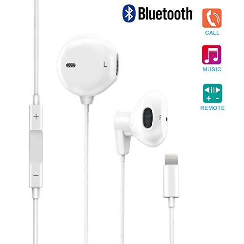 Actor Earphones, With Microphone Earbuds Stereo Headphones and Noise Isolating headset Compatible iPhone 7/7 Plus iPhone8/8Plus iPhone X (Bluetooth Connectivity) Earphones, Support all iOS system