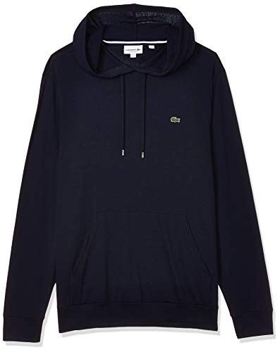 Lacoste mens Long Sleeve Hooded Jersey Cotton