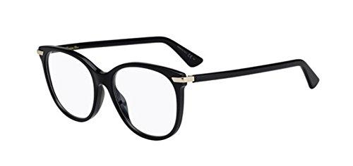 Authentic Christian Dior Dior Essence 11 0807 Black Eyeglasses