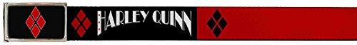Joker DC Comics Supervillain Harley Quinn Logo Web Belt