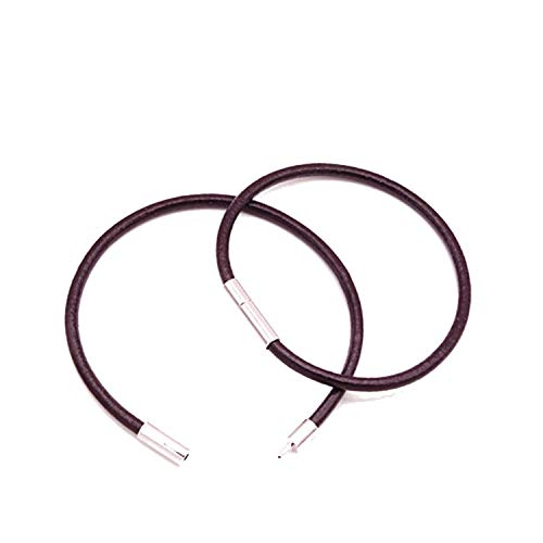 Pattern Bracelet Monet (NanGate 2pcs Real Leather Cord Bracelet 3mm 16-25cm Red Thread Jewelry Bracelets & Bangles,Color Brown,18cm)