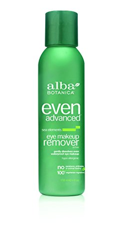 Alba Botanica Even Advanced, Sea Elements Eye Makeup Remover, 4 Ounce Hypoallergenic Moisturizing Makeup Remover