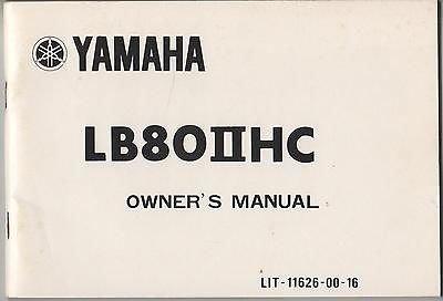 (1975 YAMAHA MOTORCYCLE ( minibike ) LB8OIIHC OWNER'S MANUAL)