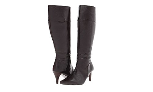 Rsvp Shen Woman's Knee High Boot Brown Leather Size 7 ()