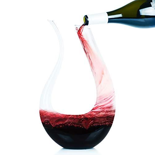 (Galashield Wine Aerator Decanter Crystal Glass U Shape Horn Red Wine Carafe (50 ounce)         )