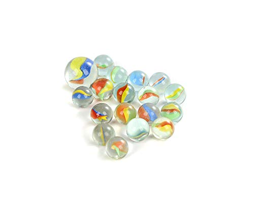 Fun Central BC811, 200 Pcs 0.65 inches Glass Marbles, Fun Marble Toys, Entertainment Games, Novelty Toys, Bulk Marble Games - 2 Packs 100 Pcs
