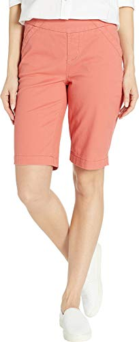 Jag Jeans Women's Gracie Pull-On Bermuda Shorts Coral Dust 8 11