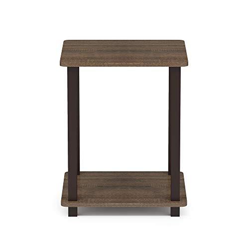 Furinno 12127WN/BR Simplistic end Table Walnut/Brown ()