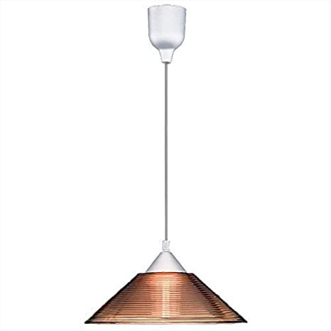 Lámpara de techo moderna - - vidrio rief en colour óxido Ø30 ...