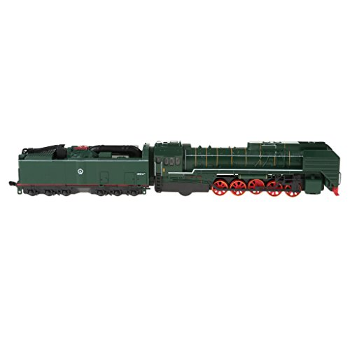 (D DOLITY Retro Pullback Locomotive Train Carriage Model Light Sounding Vehicle Train)