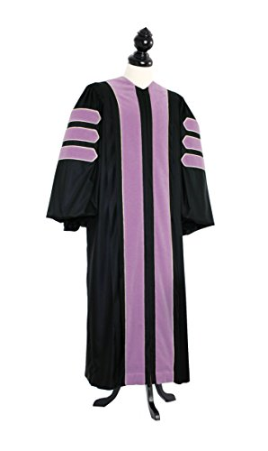 TIMELESS Women Deluxe Doctoral of Music Academic Gown for faculty and Ph.D. gold silk Custom Size Black by TIMELESS - bespoken