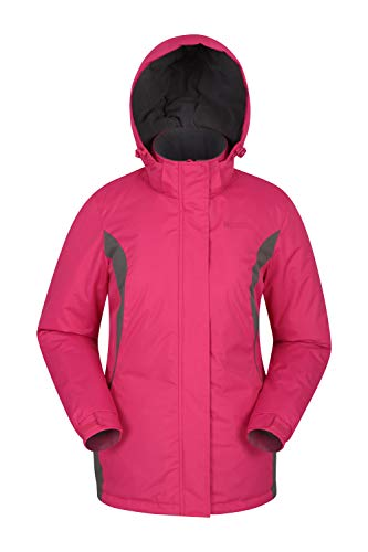Mountain Warehouse Moon Womens Ski Jacket - Warm Winter Snow Coat Pink 18