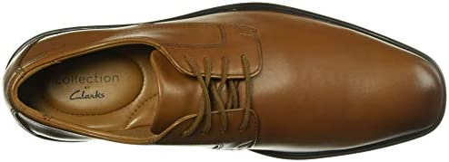 Clarks Men\'s Bensley Lace Oxford, Dark Tan Leather, 70 M US