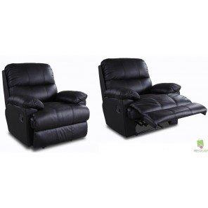 Schöne Möbel nicht zu erinnern, 2 Sessel Relax Leder/Pu, schwarz