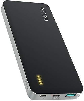 GETIHU Batería Externa portátil de 10000 mAh con 2 Puertos USB para iPhone X 8 7 6S 6 Plus 5S 5 Samsung Cell Phone iPad: Amazon.es: Electrónica