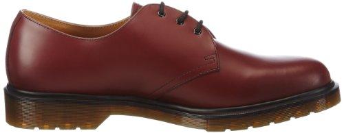 Dr. Martens 1461 Smooth 10078102-2 - Zapatos de cordones de cuero para hombre Rojo (Cherry Red Smooth)