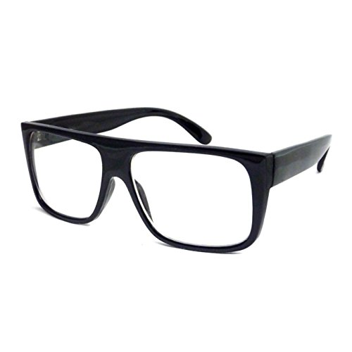 RETRO Mob Flat Top Unisex Square Frame Clear Lens Eye Glasses - For Frames Glasses Top Men