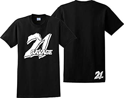 Custom Teez 21 Savage T Shirt Supreme Savage Slaughter Gang Feel Like Pablo Tee Shirts