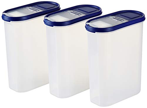 Amazon Brand – Solimo Plastic Storage Container Set with Flip-Top Lid (3 Pieces, 2400ml) Price & Reviews