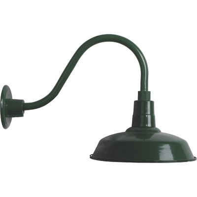 Strongway Multi-Mount Warehouse Barn Light - 12in. Dia., Forest Green, 100 Watts, Model# 23201096-GS