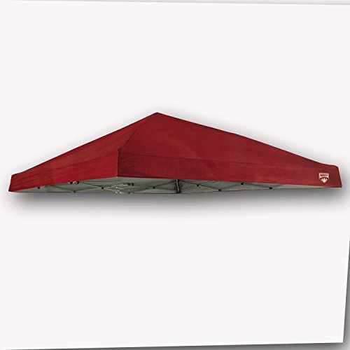 - Quest Canopy Top Q64 10' x 10' Slant Leg Instant Up Canopy Gazebo Replacement Tent Parts (RED)