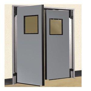 ALECO ImpacDor Heavy-Duty Traffic Door - 6'0''x7'0'' - Double Door - Gray