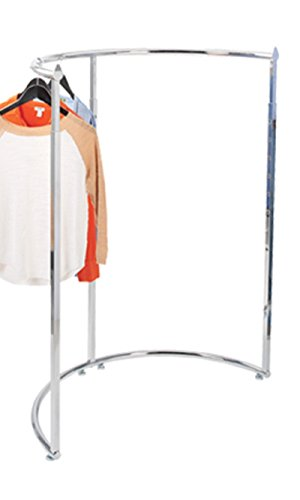"Half Round Clothing Rack - Chrome 44""W x 52''-72""H by STORE001"