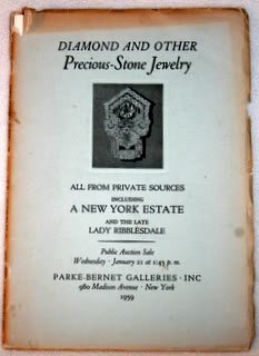 Parke-Bernet Galleries Catalog 1871: Diamond and Other Precious-Stone Jewelry (Estate of Lady Ribblesdale and others)