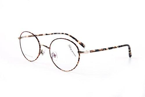 Eyeglass Alloy Frame (KHOTY 2018 New Fashion Eyeglasses Frame Imported Alloy Memory Metal Women's Men's Optical Vintage Retro Eyewear Glasses Frame Transparent Lens Non-prescription Include Case D6063 (C5 Tortoise))