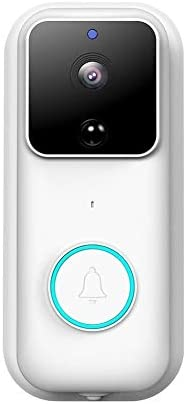 170度レンズPIR検出でのWi-FiビデオドアベルワイヤレスホームセキュリティカメラHD 1080Pビジュアルリアルタイムインターホンビデオ・ベル 呼び鈴 防水 防塵 ワイヤレスチャイム 玄関チャイム (Color : B)