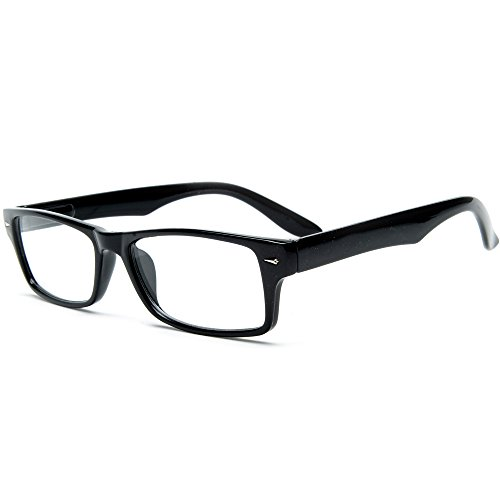 0b2ca028708 Casual Fashion Horned Rim Rectangular Frame Clear Lens Eye Glasses FREE  Microfiber Pouch - Buy Online in UAE.