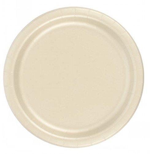 72 Ivory Desert / Cake Paper Plates 7in