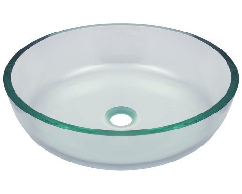 Polaris Sinks P526 Clear Glass Vessel Bathroom Sink by Polaris Sinks by Polaris Sinks