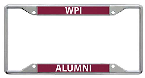 Fan Chrome Acrylic - WinCraft Worcester Polytechnic Institute Alumni Premium License Plate Frame, Chrome with Hand Inlaid Acrylic