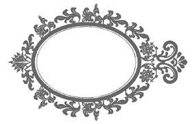 mirror frame outline. Oval Mirror Outline , Vinyl Sticker, Stickers - Sticker Wall Art Deco Decal Frame O