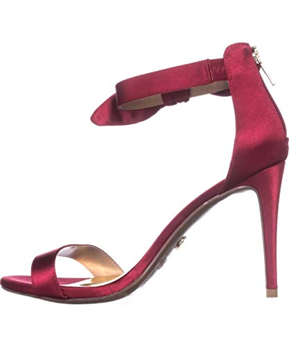 aeef Satin Open Toe Formal Slingback Sandals, Red, Size 11.0 ()