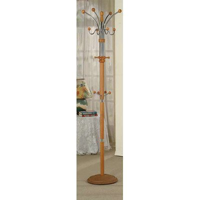 Manhattan 74 in. Standing Wood Coat Rack (Oak)