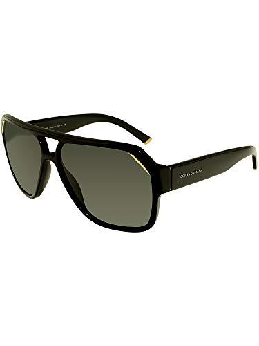 Dolce & Gabbana Sunglasses - DG 4138 / Frame: Shiny Black Lens: Gray