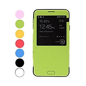 SOL Tough Armor Hit Color Intelligent Plastic Hard and Soft Combination Case with Call Display for Samsung Galaxy Note 3 N9000