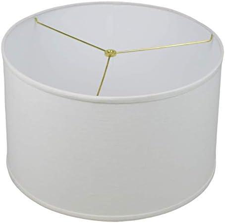 FenchelShades.com 18 Top Diameter x 18 Bottom Diameter 11 Height Cylinder Drum Lampshade USA Made Designer Off White