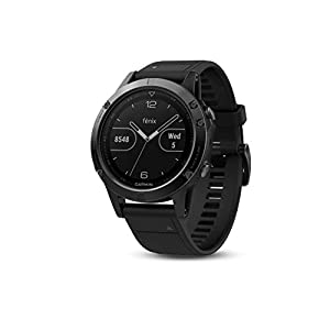Garmin Fenix 5 Multisport GPS Watch with Outdoor Navigation and Wrist-Based Heart Rate – Slate Grey with Black Band…