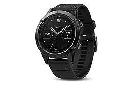 Garmin fēnix 5, Premium and Rugged Multisport GPS Smartwatch, Slate Gray with Black Band, Renewed