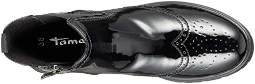 Donna Chelsea 25491 Stivali Tamaris 18 black Nero 21 Patent gFcATS