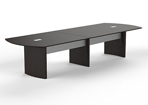 Mayline 12' Conference Table W/Data Ports Dimensions: 144''W X 48''D X 29.5''H Laminate Work Surface Sits Approximately 12 People - Mocha by Mayline