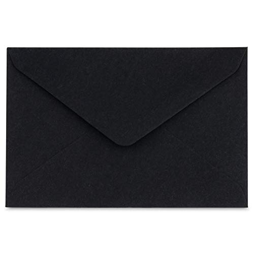 "Mini Envelopes Small Assorted Colored Envelopes for Gift Card, Business Card 4""x 2.7"" (Black, 60 Pack)"