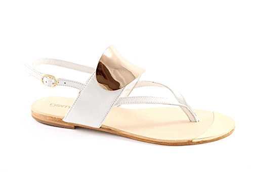 Bianco woman white 20 white 286 leather thong Gemma leather sandals nYgfEqvwz