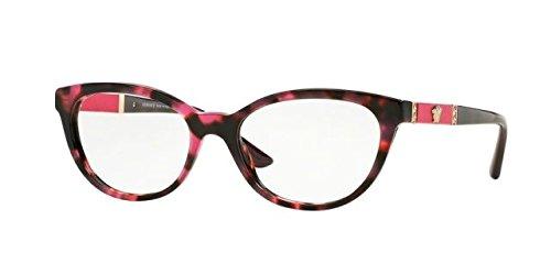 Versace VE3219Q Eyeglass Frames 5040-52 - Pink Havana VE3219Q-5040-52 by Versace
