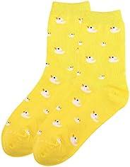 Women's Casual Print Low Cut Ankle Quarter Cushion Socks Non-slip Elastic S