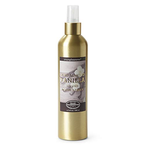 Tri-coastal Design Sandalwood Vanilla Scented Room Spray Simple Pleasures Room Spray Air Freshener for Kitchen, Bathroom and More - Calming Fragrance Spray and Natural Odor Eliminator - 6.76 Fl Oz (Scented Your Room Season Spray)