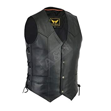 XX-Large A/&H Apparel Mens Motorcycle Genuine Cowhide Leather Biker Concealed Carry Durable Vest